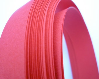 "3/4"" Weaving Star Paper~ Red (50 strips)"