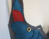 Upcycled Feather Vest