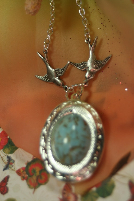 Nestling On The Wings Special Delivery Locket Shipping Flew the Coop
