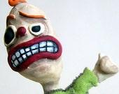 big thumbs up, ooak creepy clown
