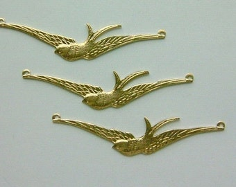 12  pc Large Brass Highly Detailed Soaring Bird Findings