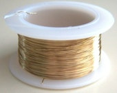 Gold tone Copper 30 gauge artistic wire for knitting, crochet or beading