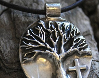 Tree of Life Necklace with Cross