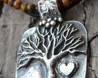 Fancy Bail Tree Of Life with Tiger Eye