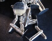 12mm cuff links, silver plated, lead and nickel free, 20 pieces (10 pair)