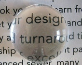 20 12mm glass magnifying cabochons, round crystal clear cabs