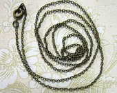 Two 26 inch brass plated chain links 2mm long, 1.5mm wide (lead and nickel free)