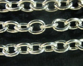 silver plated cross chain lead and nickel free chain T030Y