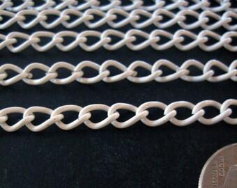 5 feet WHITE enamel kawaii chain 6mm x 4mm