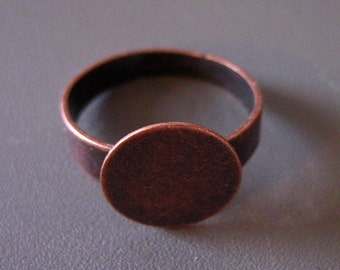 20 12mm copper wide band ring blanks