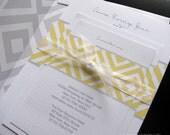 DIY Diamonds Wedding Invitation