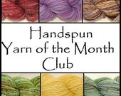 3 Month Subscription to the Handspun Yarn of the Month Club