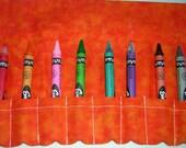 Lil Orange Crush Crayon Roll