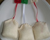 Felt Playfood Christmas Tea Bags Set of 3