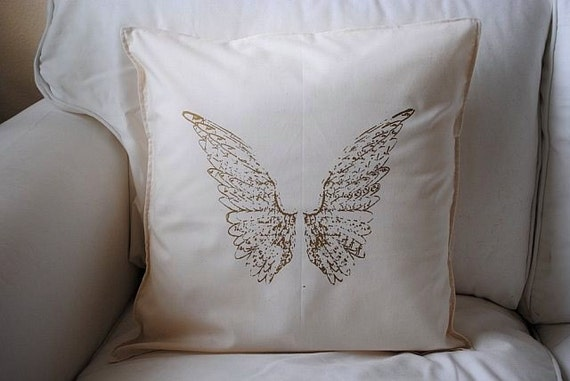 Tea Stained Angel Wings Shabby Chic 16x16 Pillow Case Buy 2