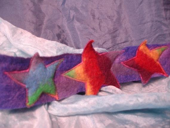Rainbow Felt Star Crown