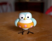 Flora the Needle Felted Swimmer Owl