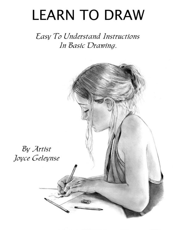 How To Draw Realistically, Learn Pencil Art: PDF Tutorial. Instant Download