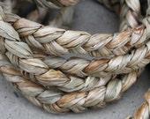 Braided seagrass 1 inch width- roll is 19 feet sea grass-bird toy, Polynesian costumes