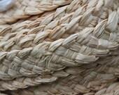 Plaited raffia roll 3/4 inch wide- small amounts - natural trim, braided raffia
