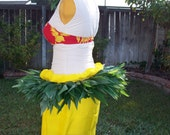 Ready made Ti Leaf Hip Belt- Made with Silk Leaves for Tahitian Dance-adult size, child size, hip hei, Tahitian costume