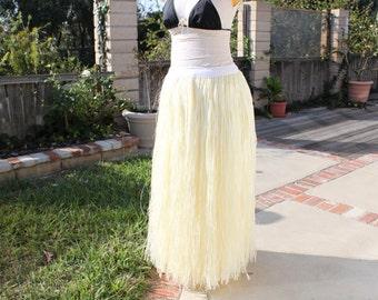 Tahitian skirt, Tahitian more' skirt, bark skirt, Tahitian costume skirt, Polynesian dance costume, Hula skirt, grass skirt