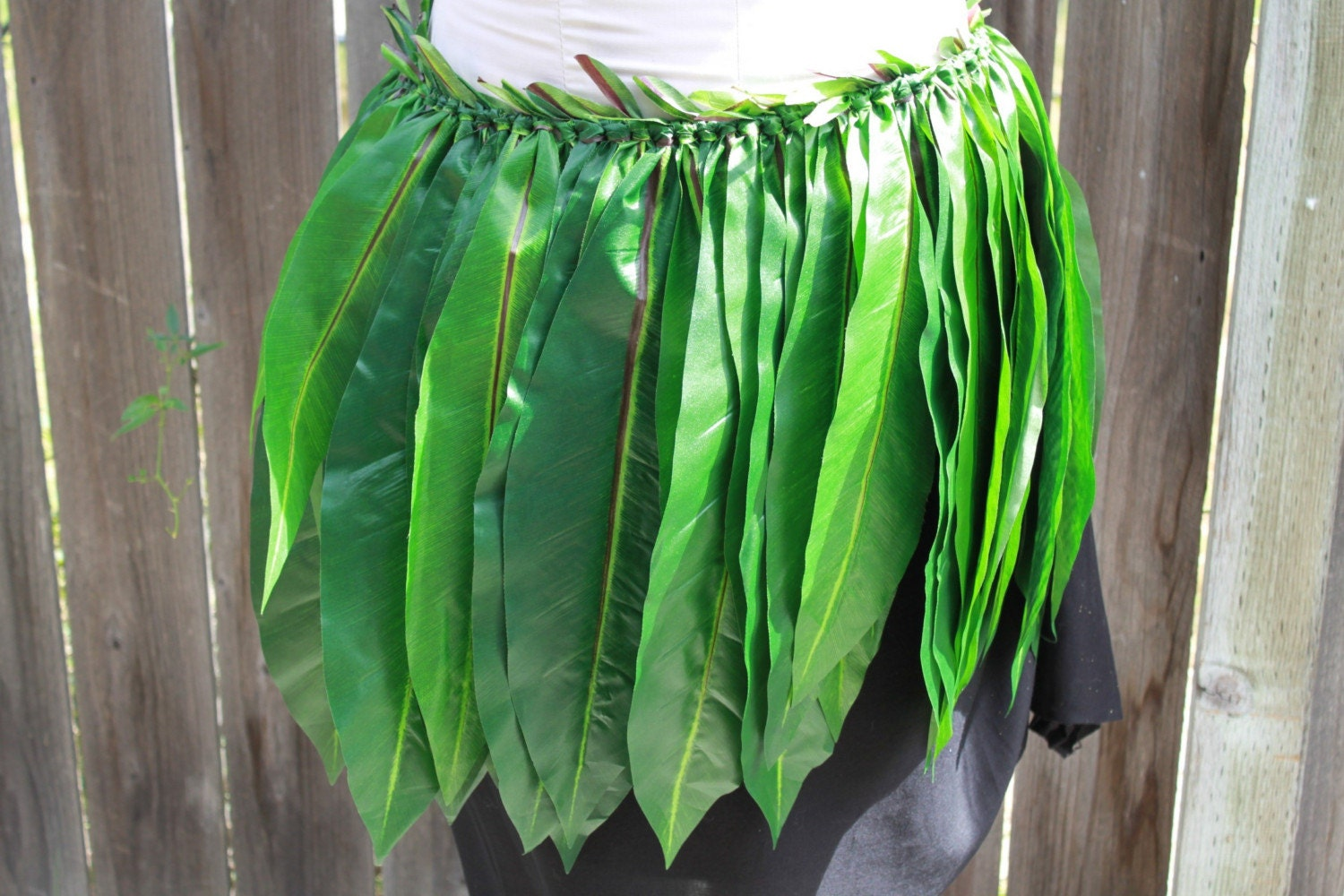 Ti leaf skirt for Polynesian Costume Hula Made with silk ti