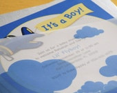 Lil' Fly Boy Airplane Baby Shower Invitation - Design Fee