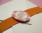 Vegas Poker Chip Bachelorette Party Invitation - Design Fee