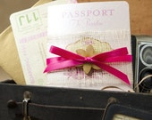 Hibiscus Passport Destination Wedding Invitation (Hawaii) - Design Fee