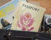 Vintage Passport Destination Wedding Invitation (Mexico) - Design Fee
