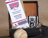 Baseball Ticket Birthday Invitation - Design Fee