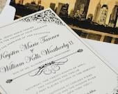 Vintage Filigree Wedding Invitation (New York City) - Design Fee