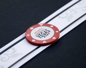 Vegas Poker Chip Wedding Invitation (Pocket Fold) - Design Fee