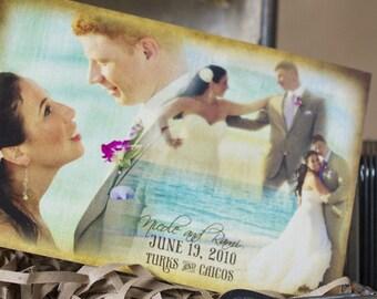 Vintage Wedding Thank You Postcard (Bride and Groom) - Design Fee