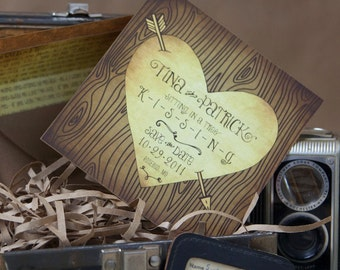 Love Carved in a Tree Save the Date (Eco-friendly) - Design Fee