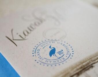 Vintage Travel Wedding Invitation (Kiawah Island, South Carolina) - Design Fee