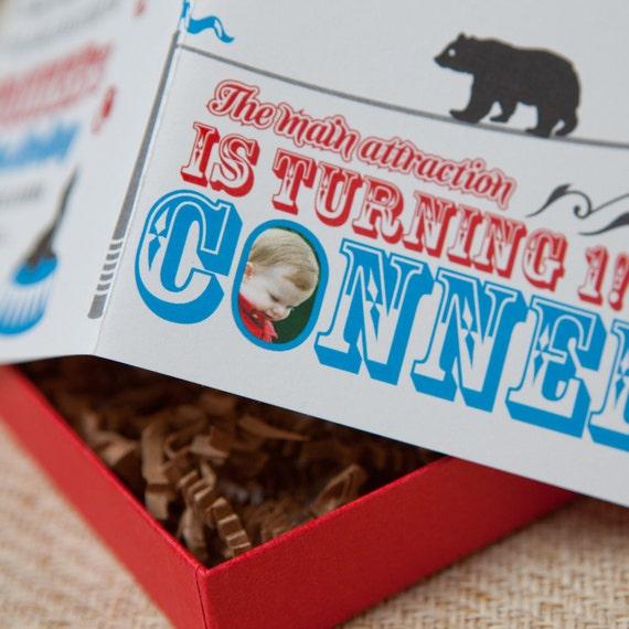 Boxed Circus Birthday Invitation - Design Fee