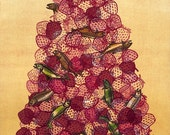 Strawberry Codfish Pile Painting Print
