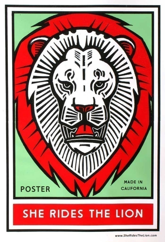 LAST ONE Lion Poster Souvenir Silkscreen