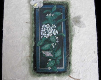 50% off Hand crafted Memo Pad - Night Blooming Jasmine
