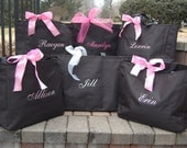Personalized Bridesmaid Totes Monogrammed  Bridal Party Gifts Bride Maid of Honor