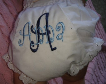 Personalized Monogrammed Bloomers - Diaper Cover