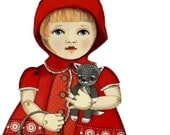 Little Red Ridinghood-- DIY Articulated Paper Doll Set