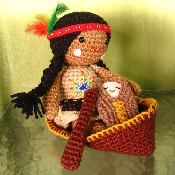 Crochet Patterns Native American : ... similar to Amigurumi Native American Doll Crochet Pattern on Etsy
