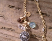 Icing on the Cake Cluster With Druzy Necklace