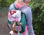 Gobbolino Back Pack Bag Kawaii Diy Emo Decora Japan Lolita Skull Bear Bunny