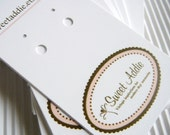 100 Earring Display Cards