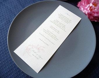 100 Cotton Blossoms Tea Length Menu Cards