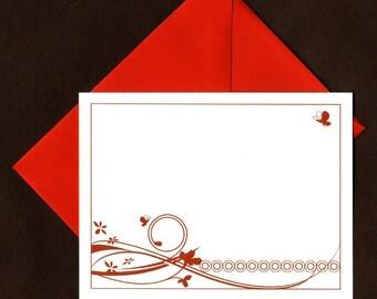 Butterflies Flat Note Cards - Set of 25